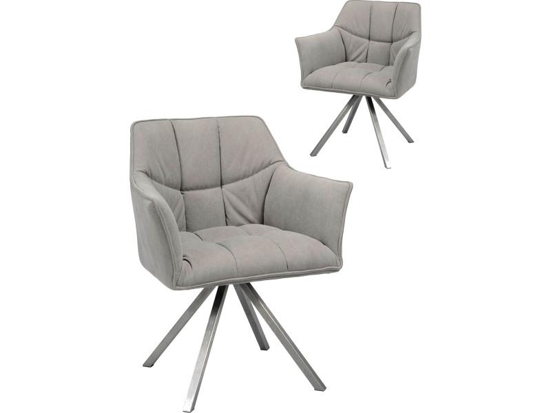 de chaises design avec tissus 2 Lot anthracite en coloris b7fYy6g