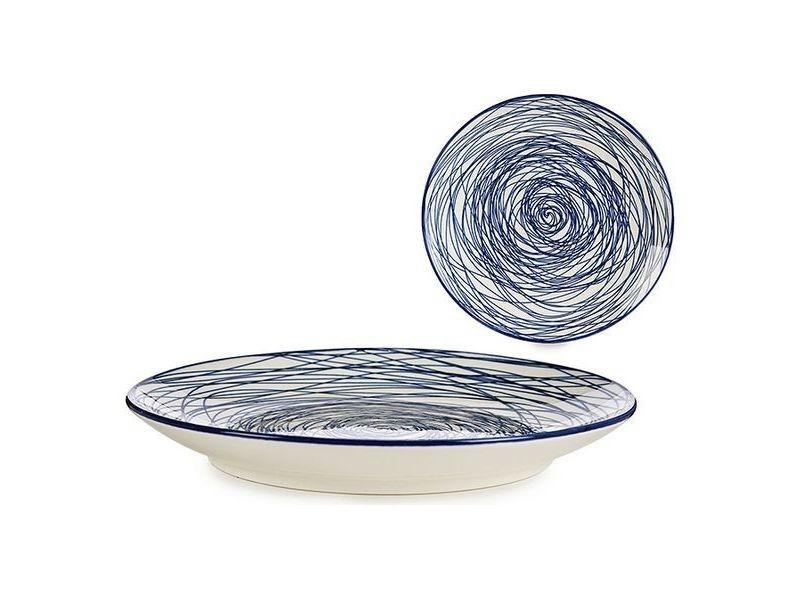 Assiettes, plats et plateaux splendide assiette bleu porcelaine ø 20 cm