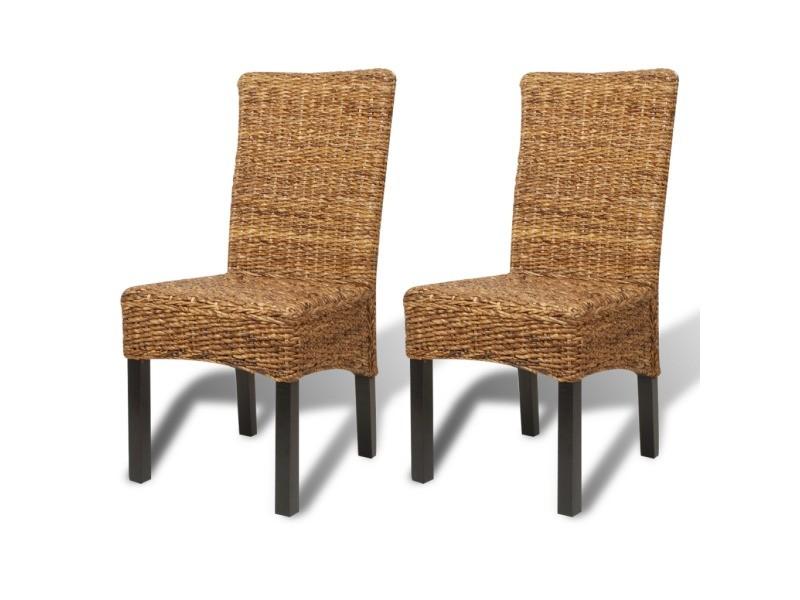 2 chaises de cuisine salon salle à manger classiques rotin bananier ...