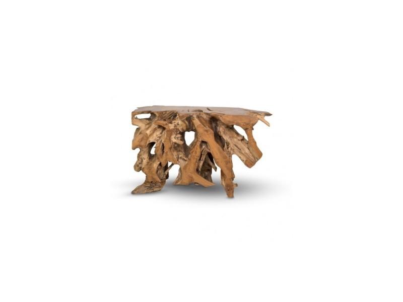 Console racine bois flotté 120 cm nature