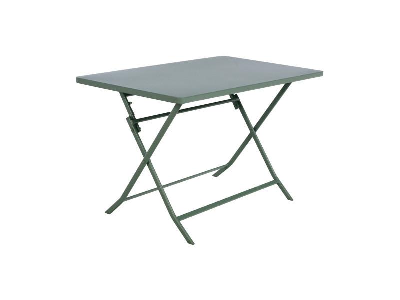 table pliante rectangulaire greensboro 4 places kaki vente de hesperide conforama. Black Bedroom Furniture Sets. Home Design Ideas