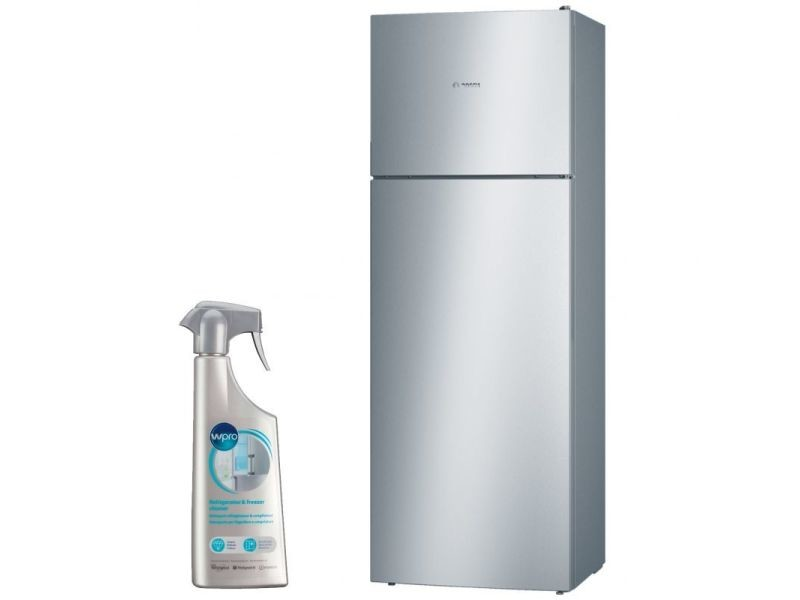 bosch refrigerateur frigo double porte inox 401l a froid. Black Bedroom Furniture Sets. Home Design Ideas