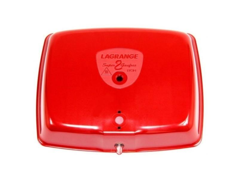Capot rouge pour gaufrier super 2 gaufres lagrange