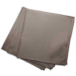 3 serviettes de table taupe 40 x 40 cm