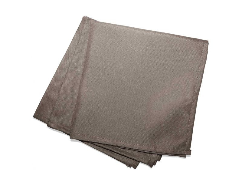 3 serviettes de table taupe 40 x 40 cm