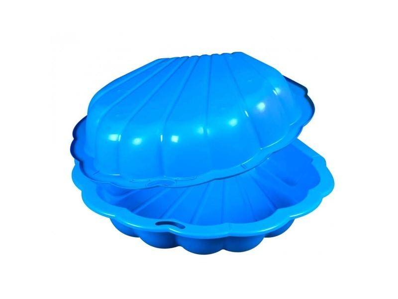 Bac à sable coquillage en plastique bleu