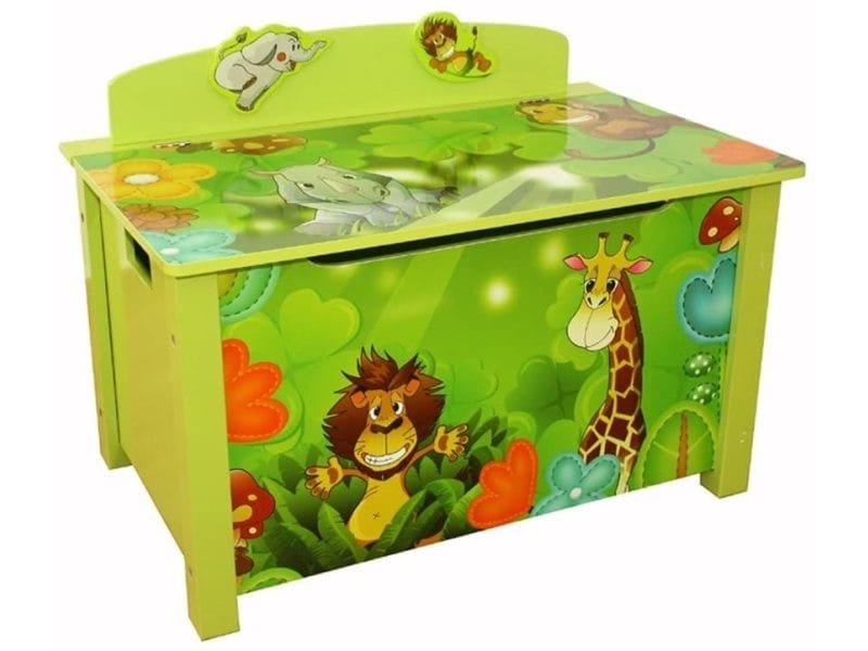 Coffre à jouets en bois jungle 644 - Vente de HOMESTYLE4U - Conforama