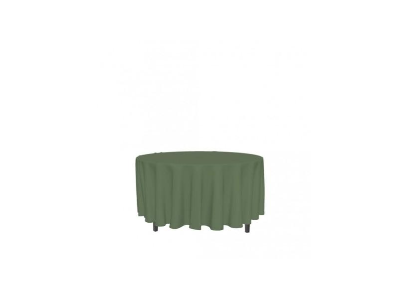 Nappe ronde anti-tâches alix - d 180 cm - vert