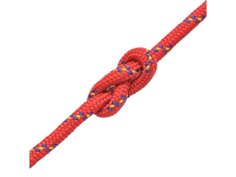 Icaverne - cordes et câbles de construction serie corde de bateau polypropylène 16 mm 250 m rouge