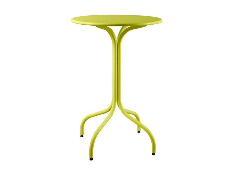 Table haute ronde de jardin en métal 80 cm agora - Conforama