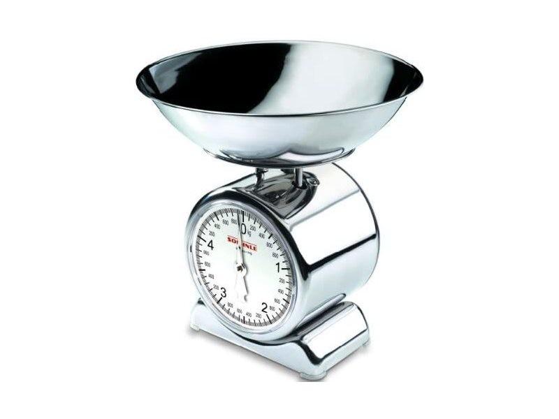 Balance mécanique avec bol de pesée amovible jusqu'à 5 kg argent