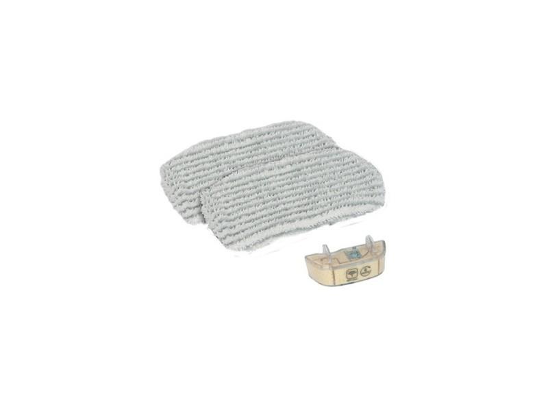 Kit d'entretien (2 lingettes micro-fibres + 1 cartouche anti-calcaire) pour nettoyeur vapeur steam power rowenta