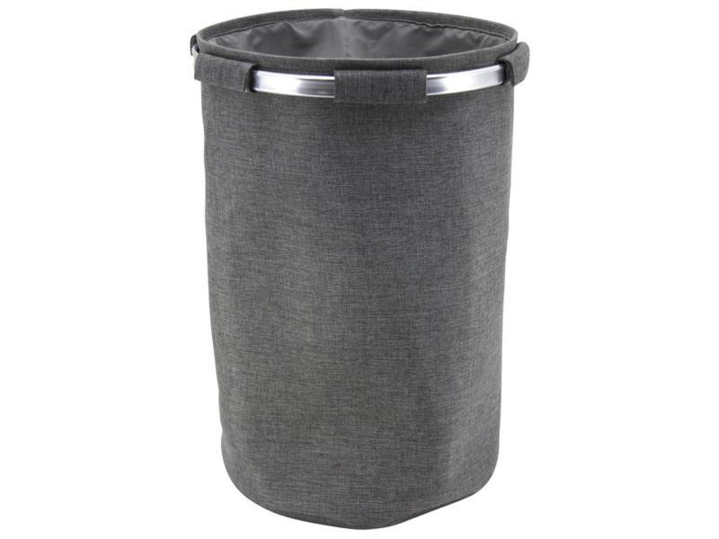 Sac à pellets en tergal et aluminium, gris - dim : ø38 x h58 cm -pegane-