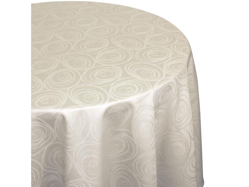 Nappe ovale 180x300 cm jacquard 100% coton spirale ecru - Vente de ...