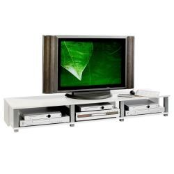 Meuble tv bas kimi mdf décor blanc