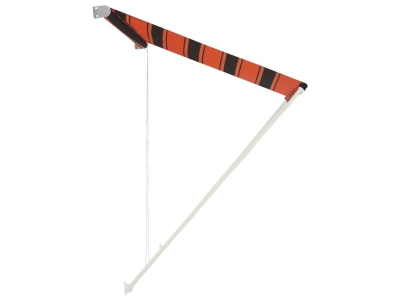 Vidaxl auvent rétractable 250x150 cm orange et marron 145896