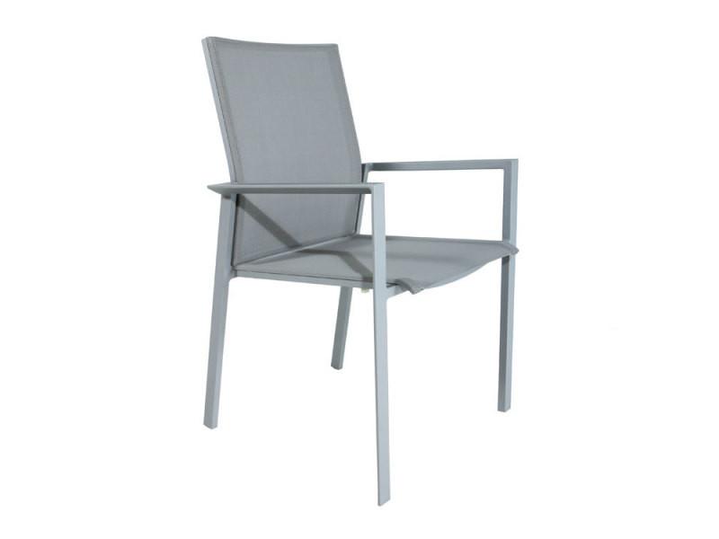 Chaise en alu et textilène gris gazzo