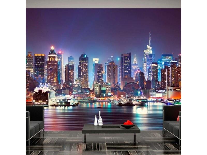 Papier peint night in new york city A1-3XLFT290