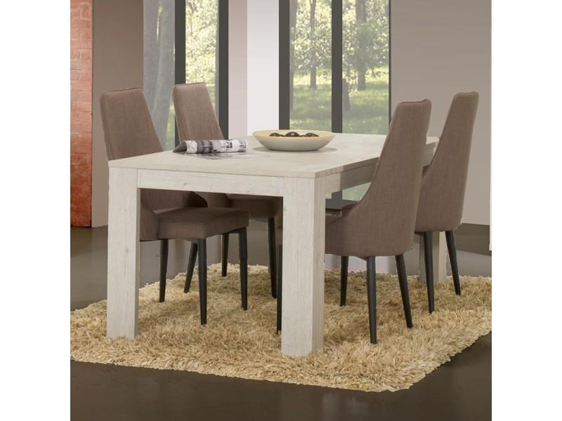 Table de repas 160 cm - zurich - l 160 x l 92 x h 75 - neuf