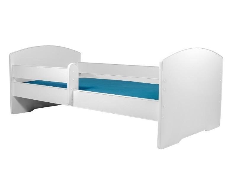 lit enfant 160x80 cm sommier matelas avec barriere de. Black Bedroom Furniture Sets. Home Design Ideas