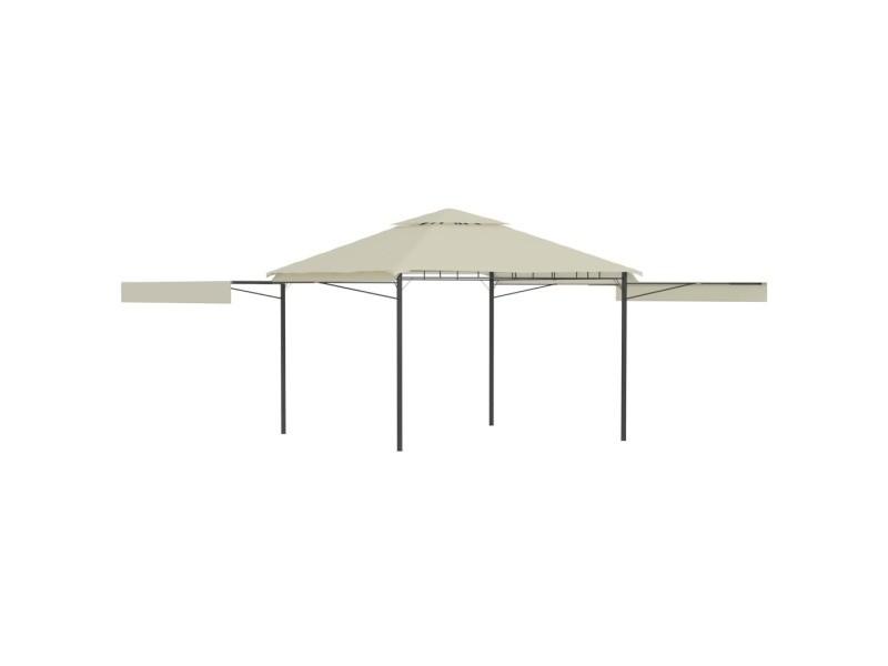 Contemporain structures extérieures famille n'djaména belvédère avec double toits étendus 3x3x2,75 m crème 180 g/m²