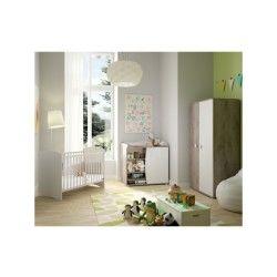 Chambre bébé complète - anis - l 124 x l 65 x h 89 - neuf