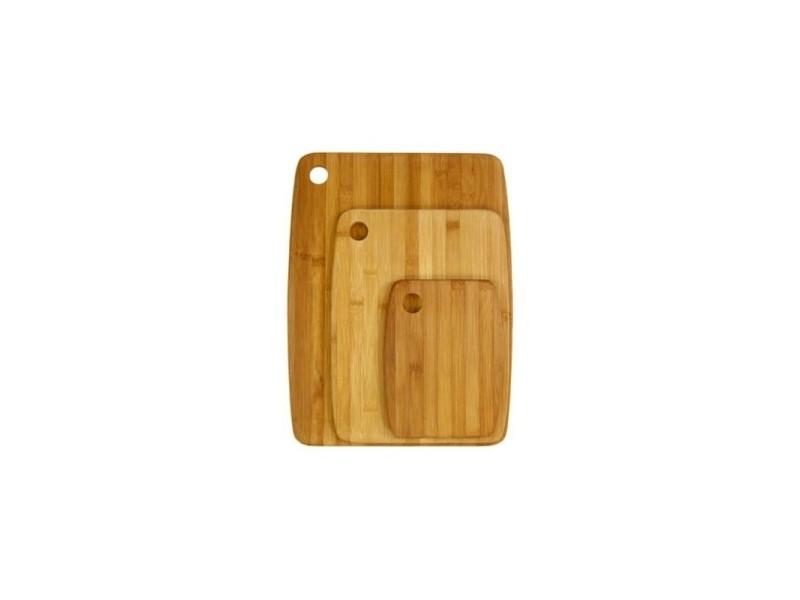 Planches à découper en bambou - lot de 3