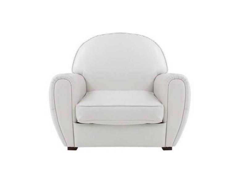 fauteuil club blanc en cuir recycl made in italy 20100828232 vente de tous les fauteuils. Black Bedroom Furniture Sets. Home Design Ideas