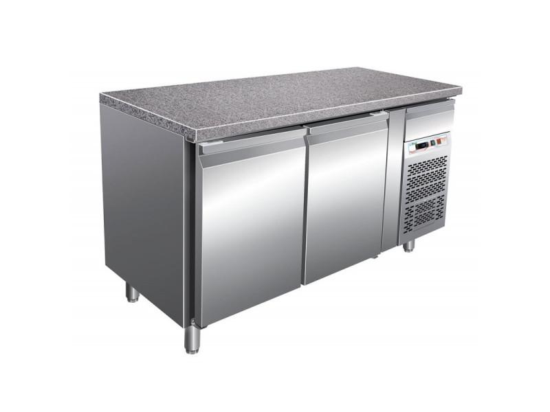 Tour pâtissier réfrigéré 2 portes - dessus granit - 413 litres - pleine