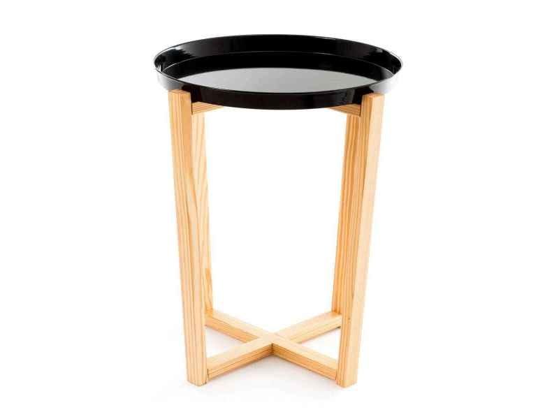 Table d'appoint ronde avec plateau corsica
