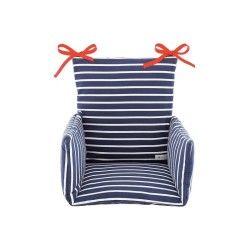 Coussin de chaise haute bébé marinière