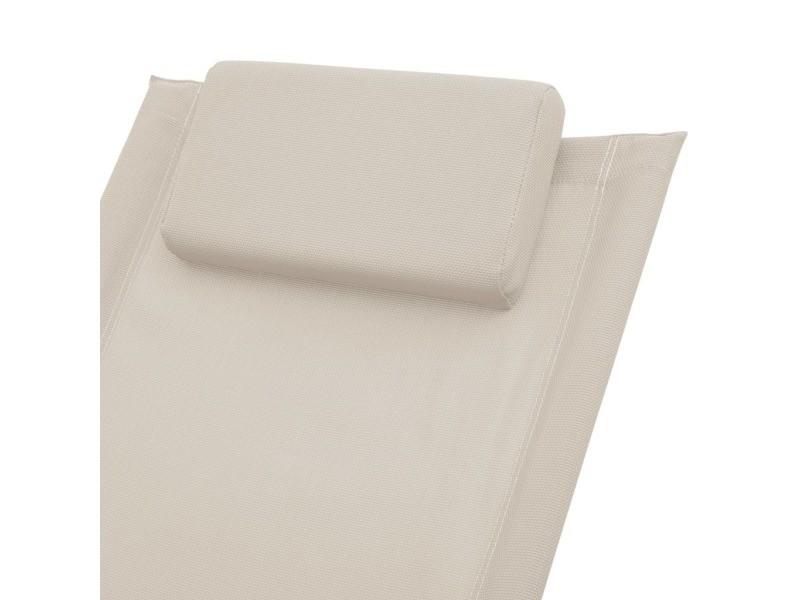 Vidaxl chaise longue pour enfants acier crème 47794 Vente