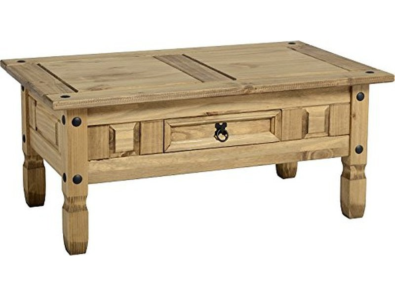 Table basse corona4 bois pin massif vente de table basse for Table conforama