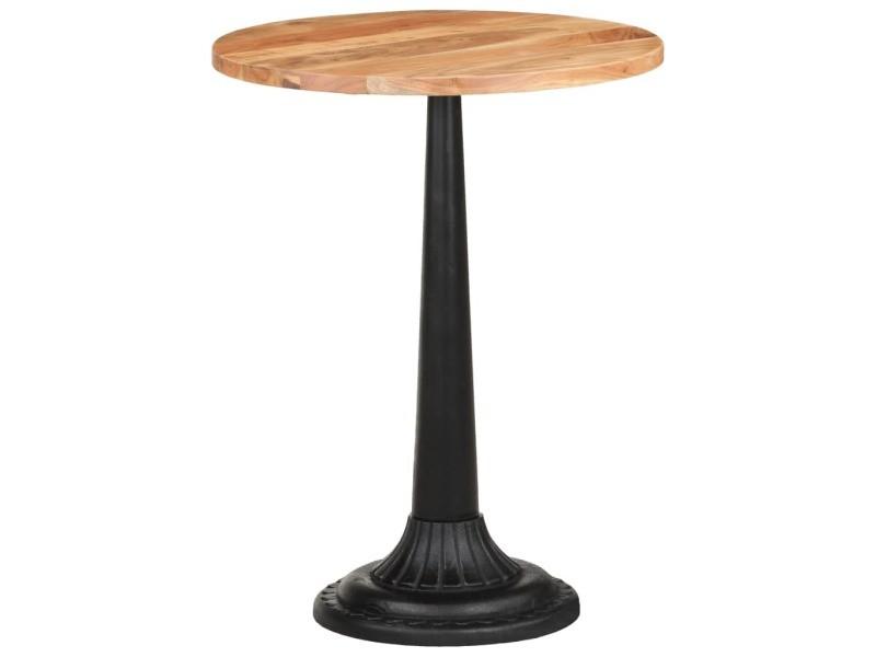 Vidaxl table de bistro ø60x76 cm bois d'acacia massif 321094