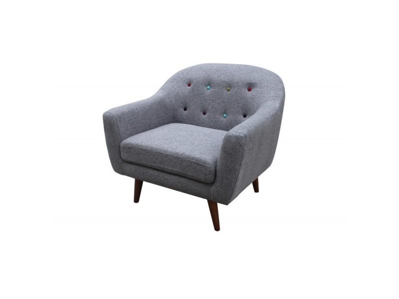 Fauteuil gris - design scandinave vintage - berlin