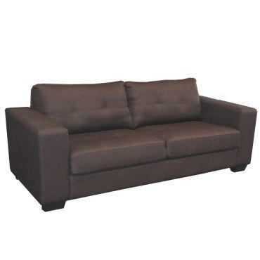 canap 3 places dana tissu chocolat 671338t vente de canap droit conforama. Black Bedroom Furniture Sets. Home Design Ideas