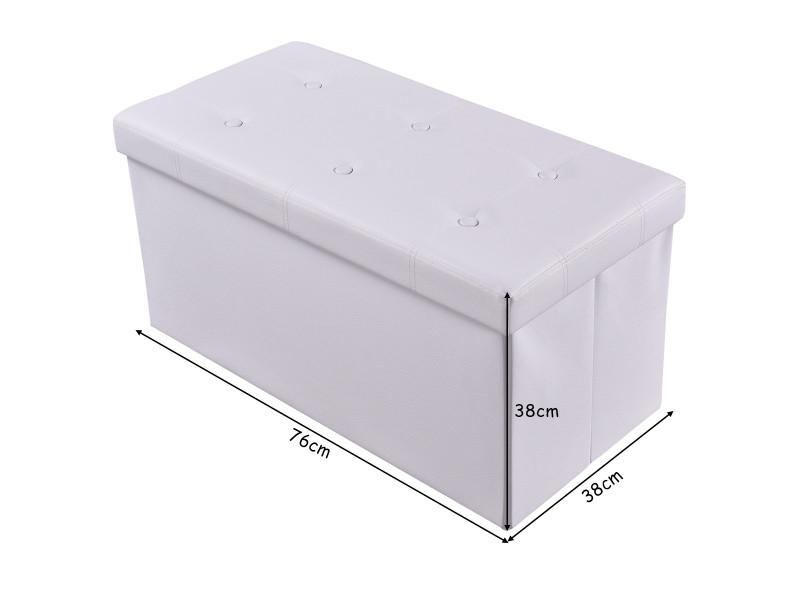 Giantex Tabouret De Cube Pouf Pliable Banc Coffre Rangement Boite De Rangement 76x38x38 Vente De Coffre Et Malle Conforama