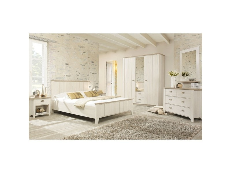 chambre adulte compl te 140 200 helene l 149 x l 209. Black Bedroom Furniture Sets. Home Design Ideas
