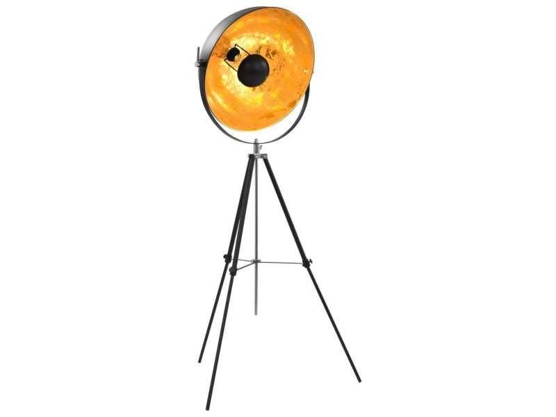 Distingué luminaires famille vilnius lampadaire e27 noir et doré 51 cm