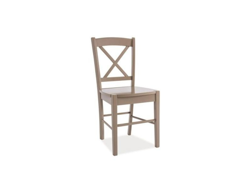 Ediu - chaise en bois salle à manger salon cusine - dimensions 85x40x36 cm - design classique - construction en bois massif - beige