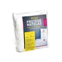Protège matelas 70x140 cm achua  - molleton 100% coton 400 g/m2,  bonnet 15cm