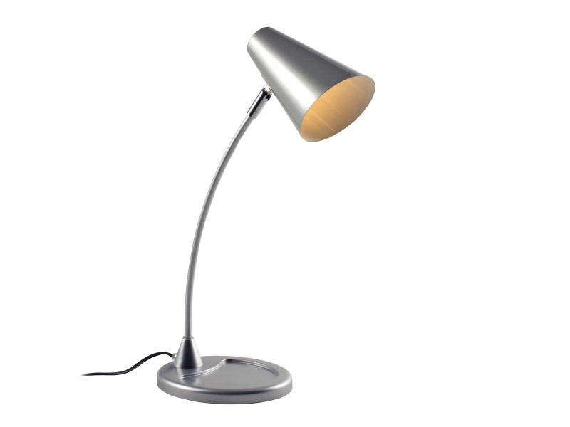 Lampe De Bureau Jordana Argent En Acier Vente De Keria Luminaires