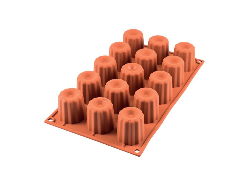 Moule en silicone 15 midi canelés 4.5 cm