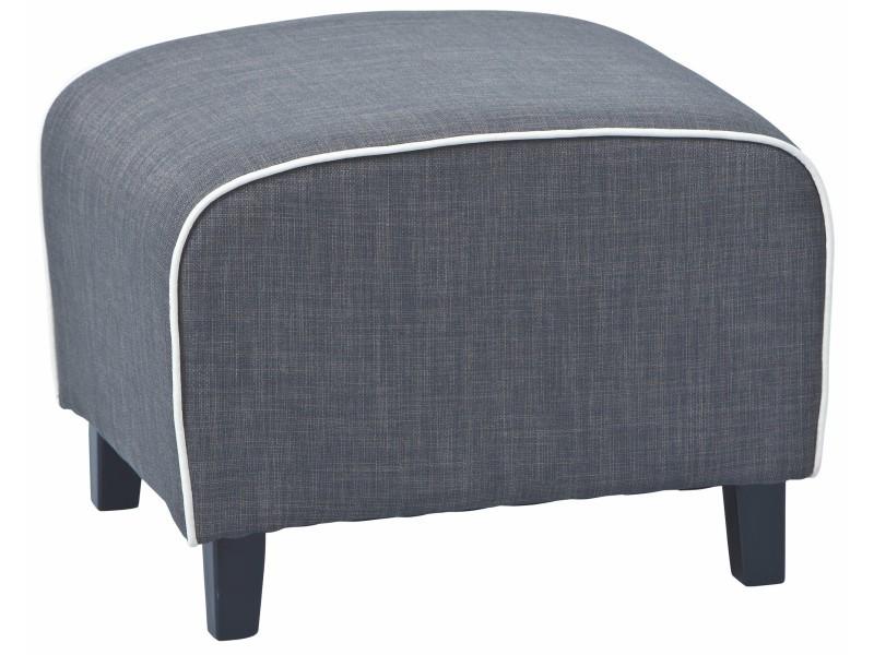 repose pieds coloris gris et blanc p 22317 co c zenitude vente de comforium conforama. Black Bedroom Furniture Sets. Home Design Ideas