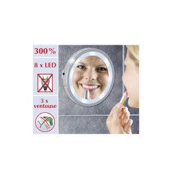 Miroir lumineux à LED Mosso - Acier Chromé