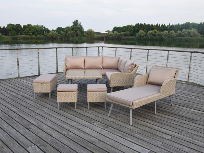 salon de jardin en r sin tress e malm scandinave. Black Bedroom Furniture Sets. Home Design Ideas