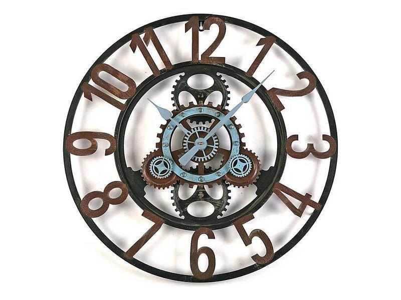 Horloges murales et de table inedit horloge murale métal (4,5 x 60 x 60 cm)