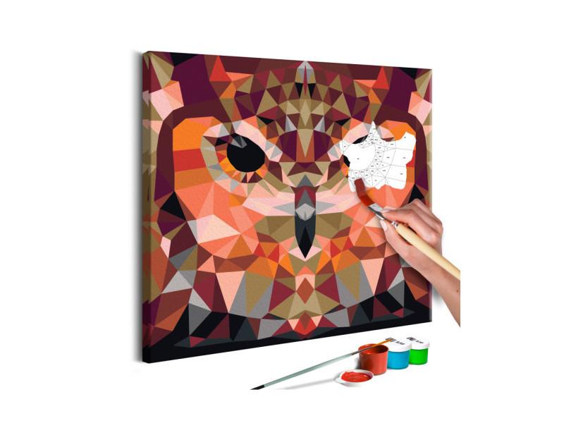 Tableau à peindre par soi-même - hibou géométrique A1-MA_0124