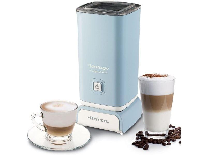 Mousseur à lait pour cappuccino de 140ml 500w bleu pastel