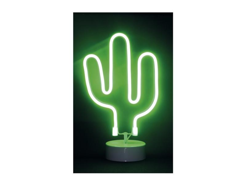 Cactus néon led - l 17 x l 10 x h 29 cm - vert